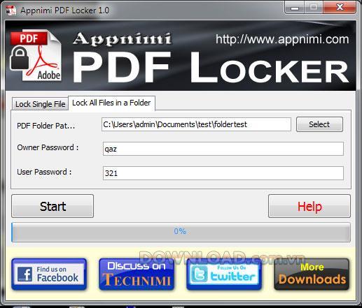 Appnimi PDF Locker - قفل ملفات PDF
