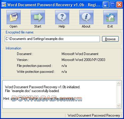؛ Word Document Password Recovery - استعادة كلمات مرور Word