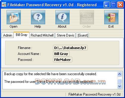 FileMaker Password Recovery - استعادة كلمة مرور FileMaker