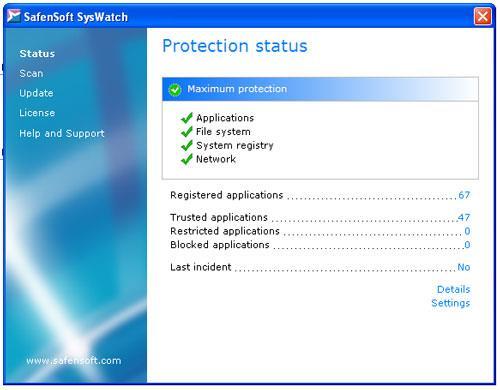SafenSoft SysWatch Personal - برنامج لحماية أجهزة الكمبيوتر