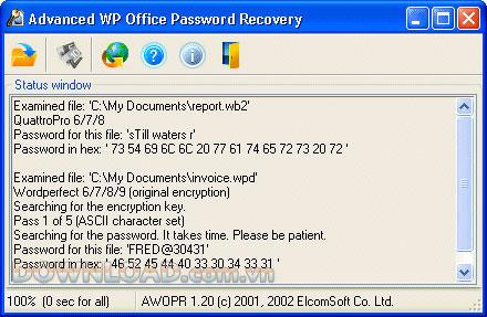 ؛ Advanced WordPerfect Office Password Recovery - استعادة كلمات المرور بكفاءة