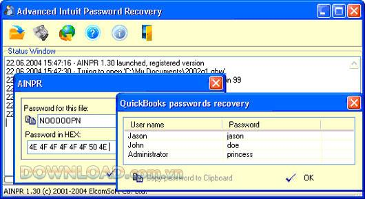 Advanced Intuit Password Recovery - استعادة كلمات المرور بشكل فعال