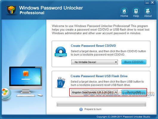 ؛ Windows Password Unlocker Professional - إعادة تعيين كلمات مرور Windows المنسية