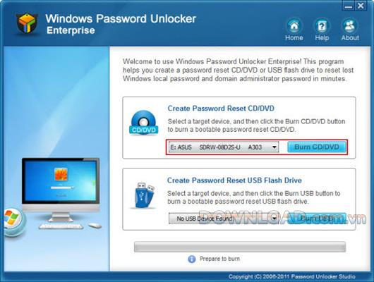 Windows Password Unlocker Enterprise - إعادة تعيين كلمة مرور Windows المنسية
