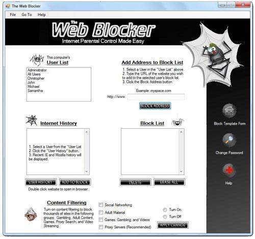 Der Webblocker - Blockieren Sie schädliche Websites