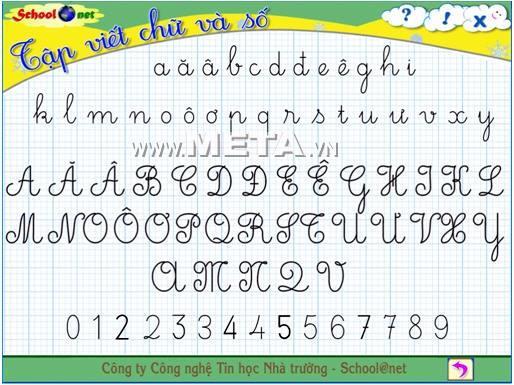 ممارسة الكتابة الفيتنامية 3 2.0 - برنامج لممارسة الكتابة للفئة الثالثة