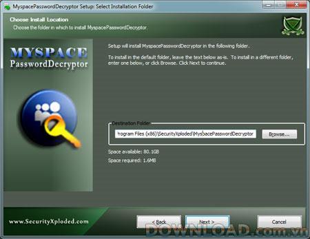 MyspacePasswordDecryptor 2.0 - Récupère les mots de passe des comptes Myspace