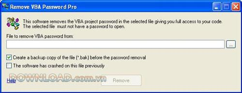 VBAパスワードの削除4.8.29-ソフトウェアはVBAパスワードの削除をサポートしています