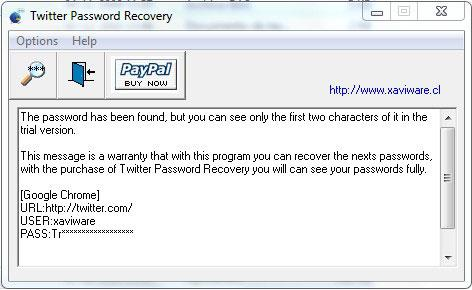 Twitter Password Recovery