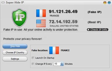 Super Hide IP 3.3.4.8 - IP beim Surfen im Internet ausblenden