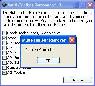 Multi-Toolbar-Entferner