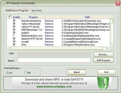 XP Firewall Commander