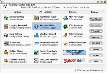 Real Spy Monitor 2.94 - Benutzerinformationen auf dem PC aufzeichnen und speichern