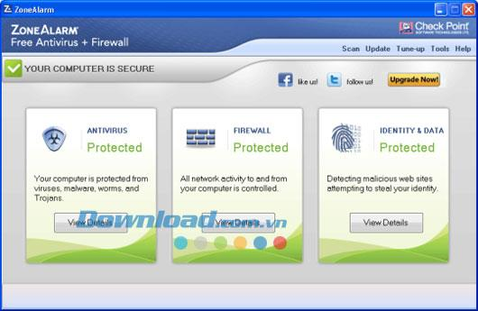ZoneAlarm Free Antivirus + Firewall 12.0.121.000 - Kostenloses Antivirus mit integrierter Firewall