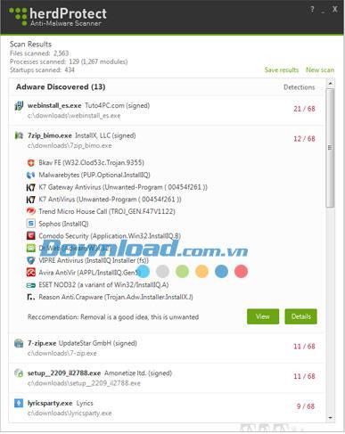 herdProtect 1.0.0 Beta - Kostenloser Malware-Scanner und Erkennungstool