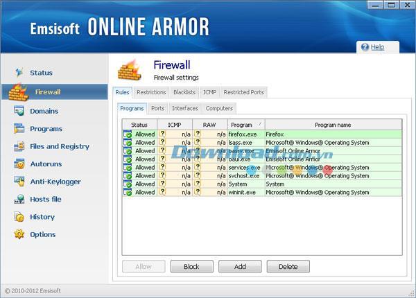 Emsisoft Online Armor 6.0.0.1736 - Online-Datensicherheitssoftware