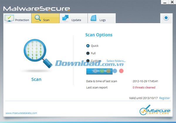 MSecure Antivirus - Outil pour prévenir les virus gratuitement