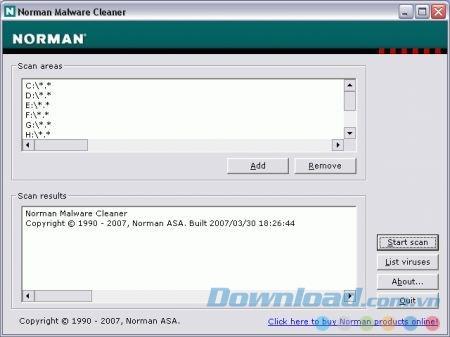 Norman Malware Cleaner 2.07.06 - Ein schnelles Tool zum Entfernen von Malware