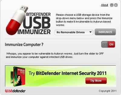 BitDefender USB Immunizer - Unterstützt den USB-Schutz vor Viren