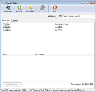 AntivirusDoctor 0.95.2 - Logiciel antivirus gratuit