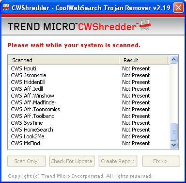 CWShredder - CoolWebSearch-Entfernungssoftware