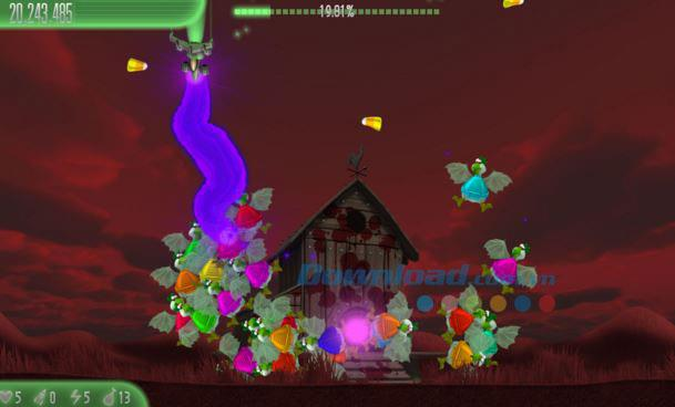 Chicken Invaders 5: Cluck der dunklen Seite Halloween Edition für Windows 8 - Halloween Chicken Shooting-Spiel