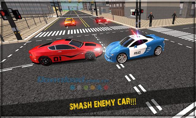 Polizeiauto Crime City - Cops Chase & Arrest Duty - Polizeiauto-Rennspiel, um Kriminelle zu fangen