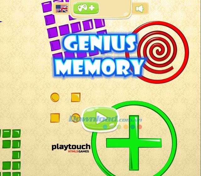 Genius Memory 1.0 - Spiel zum Testen des guten Gedächtnisses