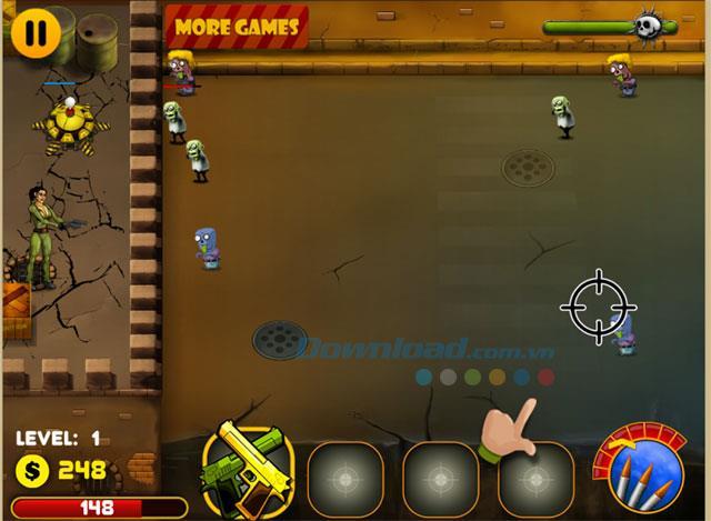 Zombies vs Nora 1.0 - Spiel Nora zerstört die Untoten