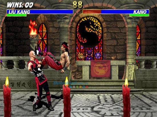 Mortal Kombat III - Kampfspiel mit schwarzen Drachen