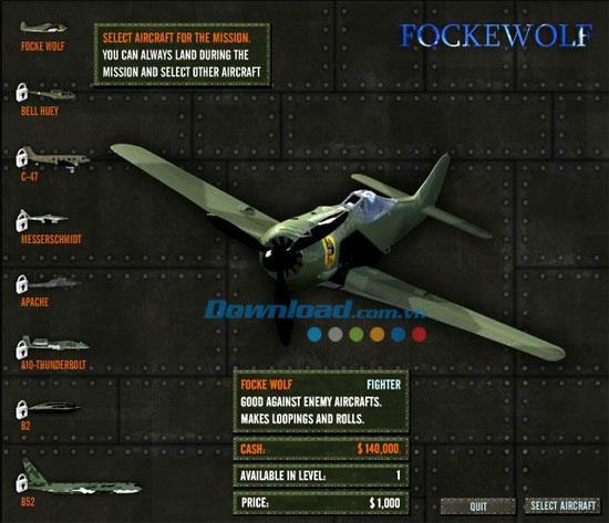 Skies of War - Jeu Sky War