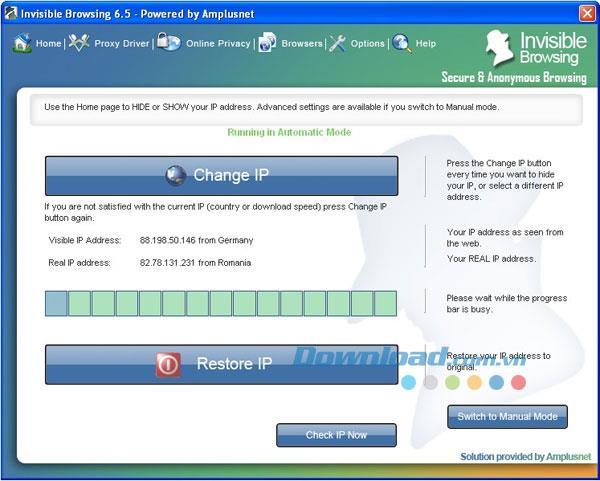 Invisible Browsing 7.3 - Software zum Ausblenden von echten IP-Adressen