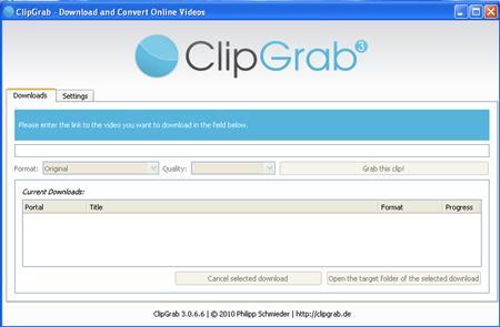 ClipGrab 3.8.11 - Software, die das Herunterladen von Videos unterstützt