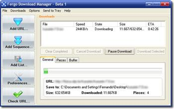 Fergo Download Manager1.0ベータ版