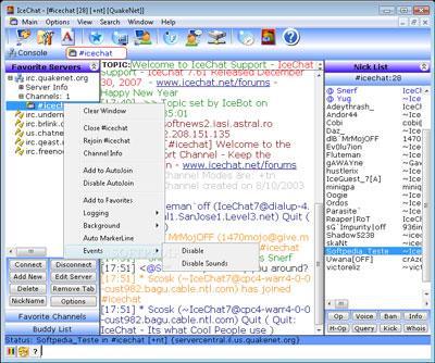IceChatIRCクライアント7.70-ハッカーチャットプログラム