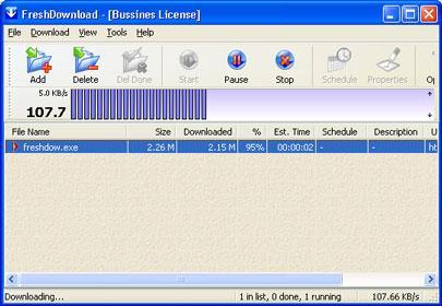 フレッシュダウンロード7.89-ファイルのダウンロードを高速化するソフトウェア