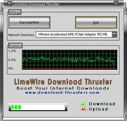 LimeWire Download Thruster - Booster herunterladen