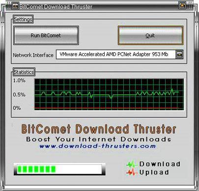 BitComet Download Thruster - Erhöhen Sie die Download-Geschwindigkeit