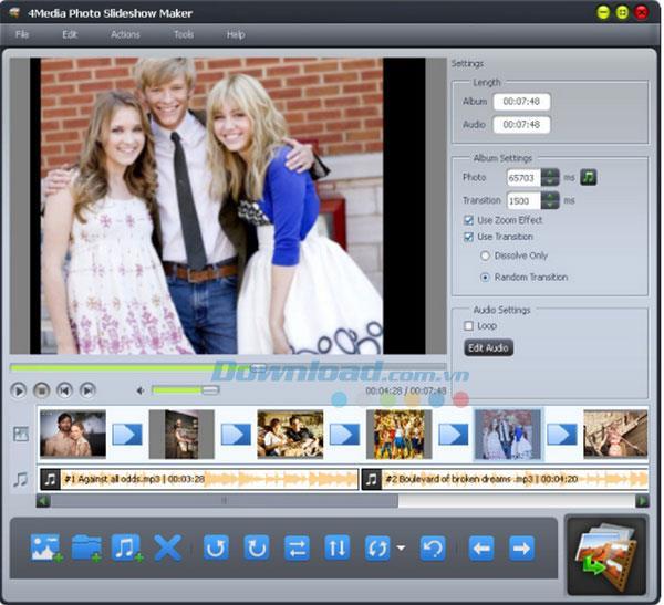 4Media Photo Slideshow Maker1.0.2-印象的な写真のスライドショーをデザインする