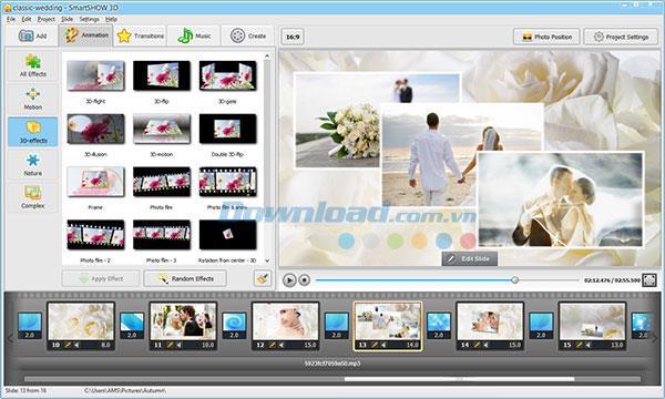 SmartSHOWЗD9.15-ユニークな写真のスライドショーを作成する