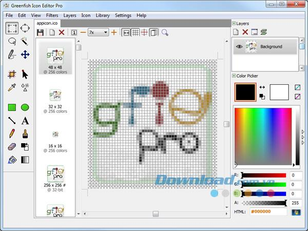 Greenfish Icon Editor Pro3.1-必要に応じてアイコンを編集します