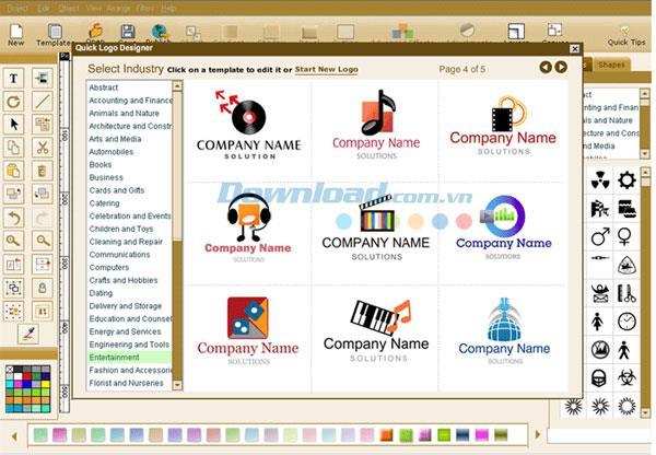 Quick Logo Designer 5.0 - Schnelle Logo-Design-Software