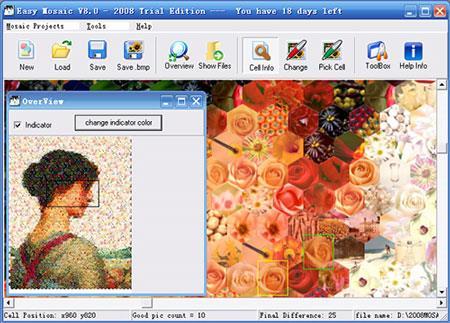 Easy Mosaic Studio 2013 0.1.0.1 - Software für Porträt-Collagen
