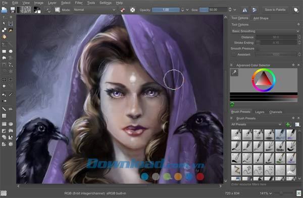 Krita4.4.0-プロの描画ソフトウェア