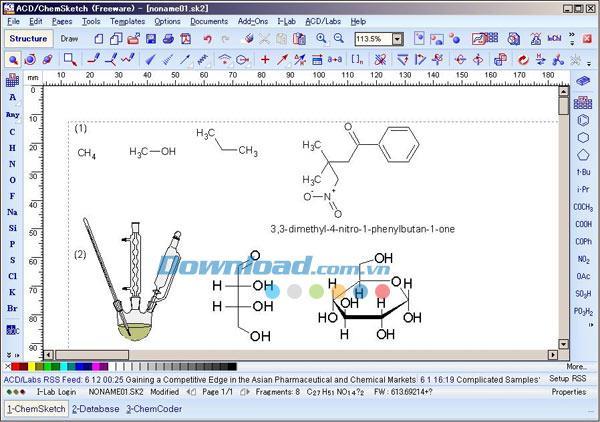 ACD / ChemSketch Freeware12.0-化学モデリング