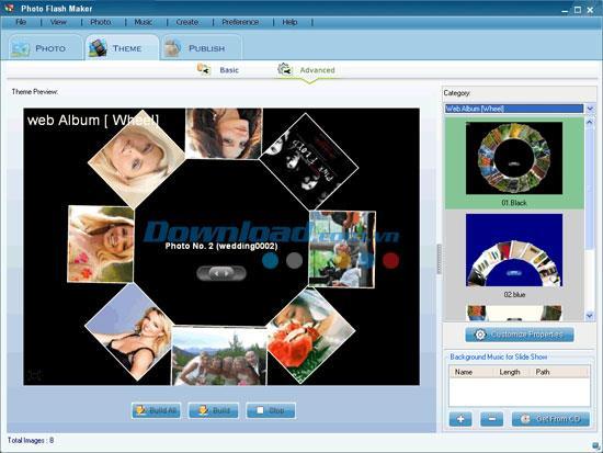 Photo Flash Maker4.83-独自のフラッシュスライドショーを作成する