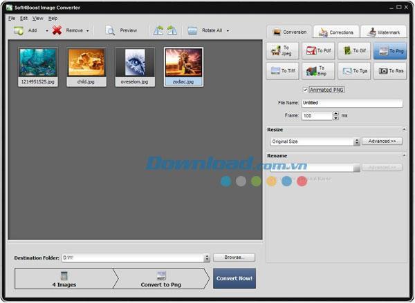 Soft4Boost Image Converter2.1.0.129-画像フォーマットをすばやく変更する