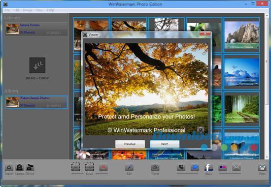 WinWatermark PhotoEdition-写真に透かしを追加するツール