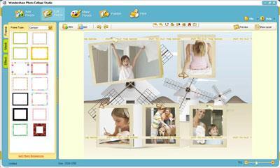 Wondershare Photo Collage Studio 4.2.16 - Erstellen Sie digitale Fotorahmen