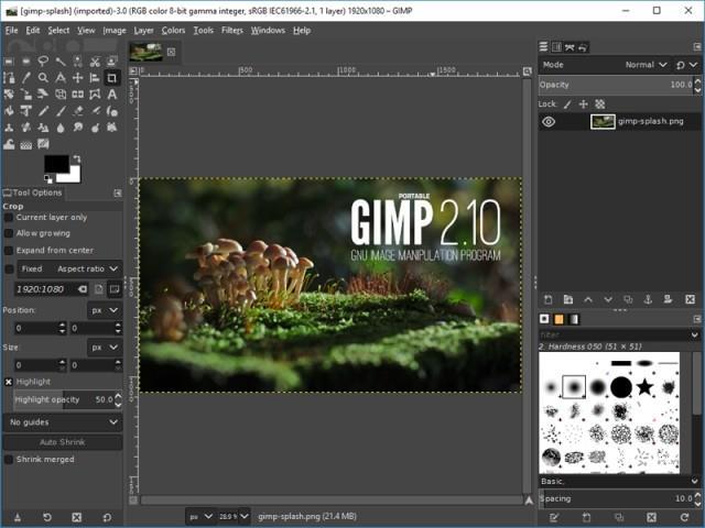 GIMP Portable2.10.14-1-無料の写真編集アプリ